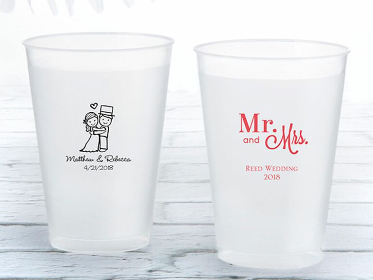 personalized frosted flex cup