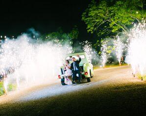 Surprise Fireworks Grand Exit on Vintage Truck
