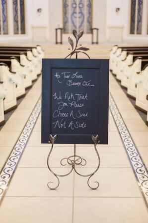 Black-and-White DIY Ceremony Entrance Sign