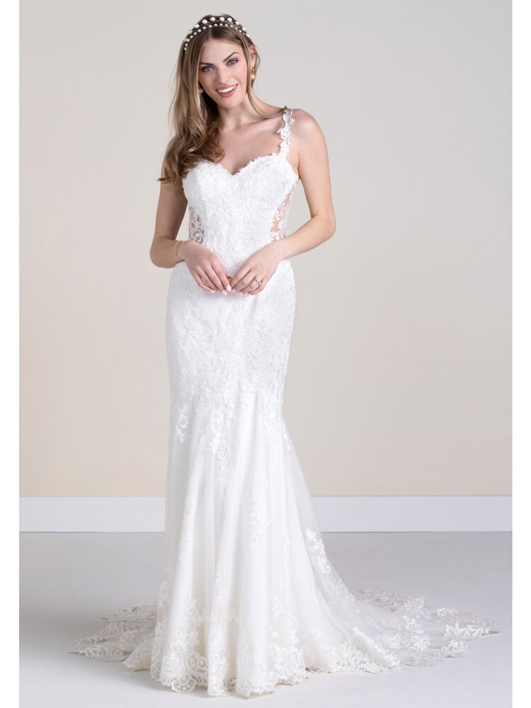 Wtoo trumpet lace wedding dress with sweetheart neckline
