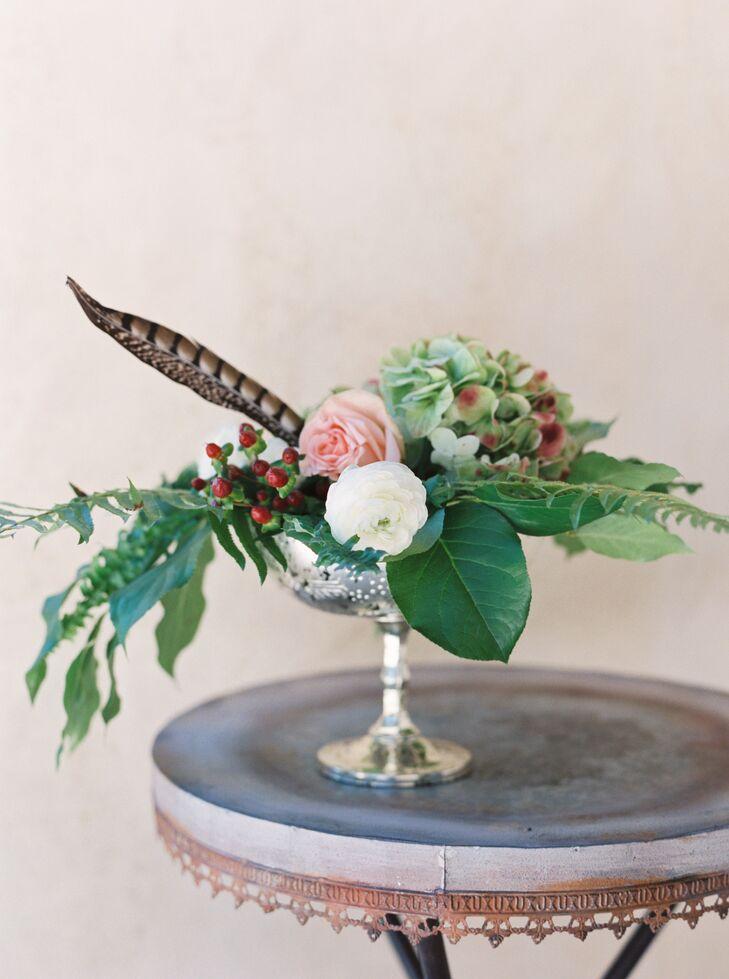 Hydrangea, Peony and Rose Centerpiece