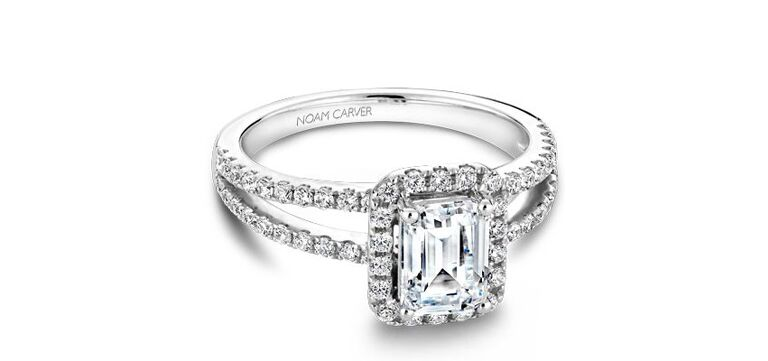 Emerald cut diamond ring by Noam Carver