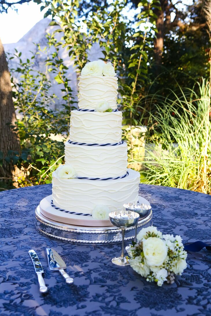 Wave Pattern Wedding Cake
