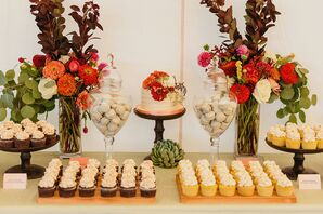 Cupcake and Macaron Dessert Table