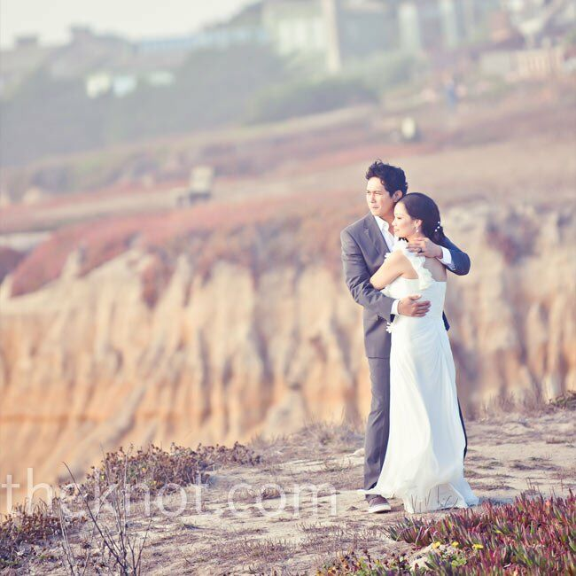 "The Bride Larissa Cerezo, 33 The Groom Reden ""Red"" Nayve, 35  The Date October 10  Larissa and Red rented a house on the beach for a truly intimate we"