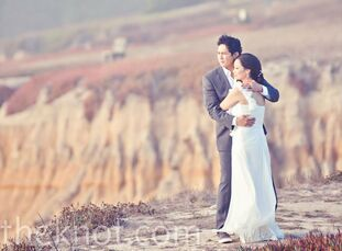 """The Bride Larissa Cerezo, 33 The Groom Reden """"Red"""" Nayve, 35  The Date October 10  Larissa and Red rented a house on the beach for a truly intimate we"""