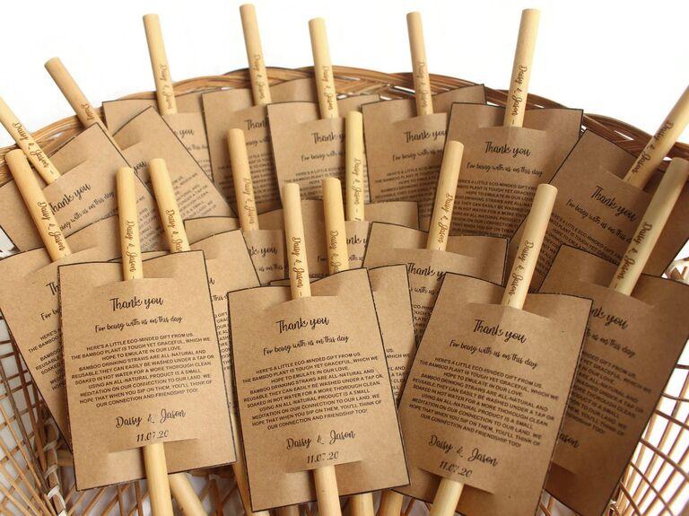 Paille de bambou écologique faveur de mariage