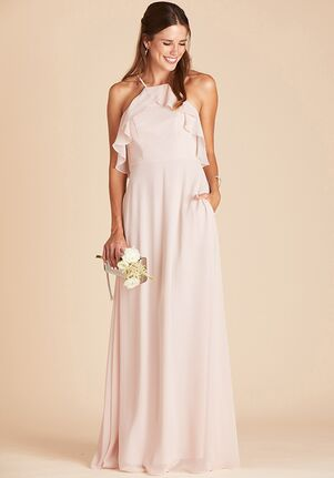 Birdy Grey Jules Dress in Pale Blush Halter Bridesmaid Dress