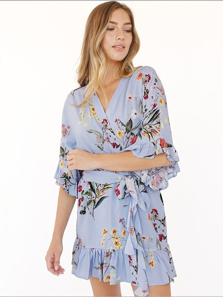 Flutter sleeve bridesmaid robe