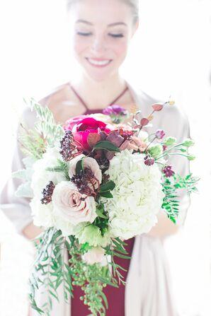 Lush Peony, Rose and Hydrangea Bouquet