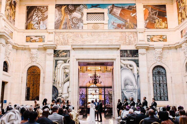 Glamorous Ceremony at the Detroit Institute of Arts