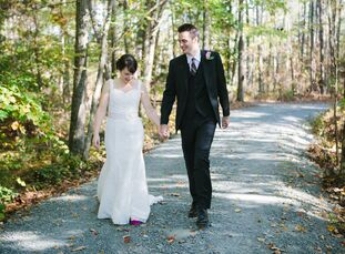 Suzannah (a social worker) and Andrew (a writer) hosted an understated fall affair surrounded by friends and family in the bride's hometown of Chapel