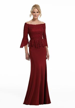 MGNY 72005 Red Mother Of The Bride Dress