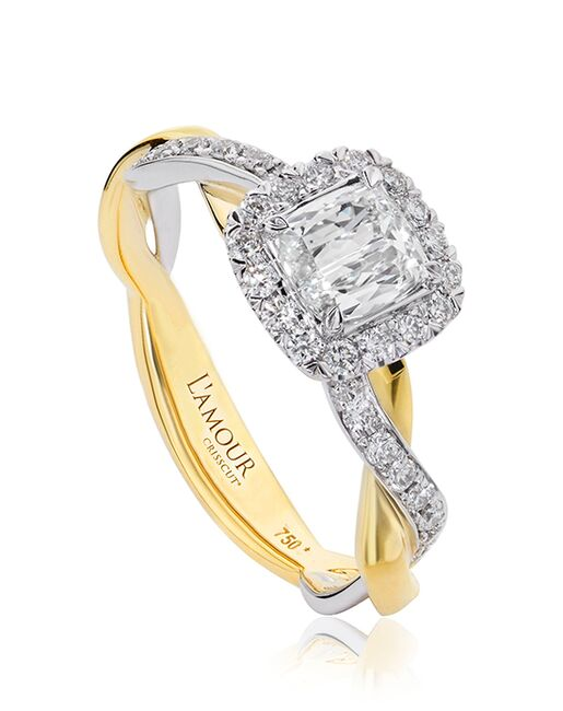Christopher Designs Unique Cushion Cut Engagement Ring