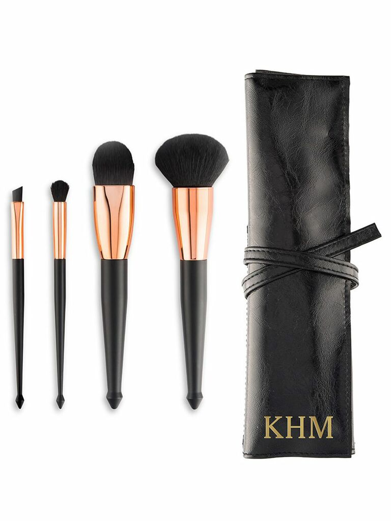 makeup brush and travel pouch