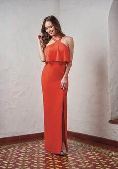 JASMINE P216053 Halter Bridesmaid Dress