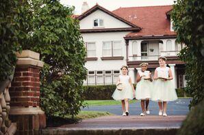 Pastel Green Tulle Flower Girl Dresses