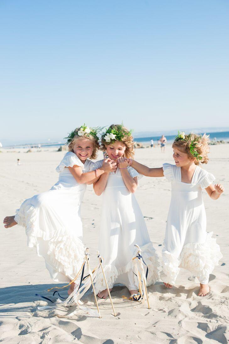 Ivory Flower Girl Dresses, Flower Crowns