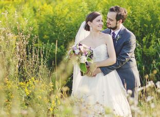 Michelle L'Archeveque (28 and a program analyst) and Adam Jones's (27 and a political and military analyst) one-of-a-kind wedding was steeped in homeg
