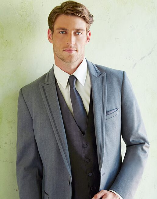 Allure Men Iron Gray Gray Tuxedo