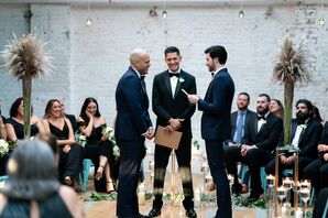 Same-Sex Wedding Ceremony in Industrial Venue