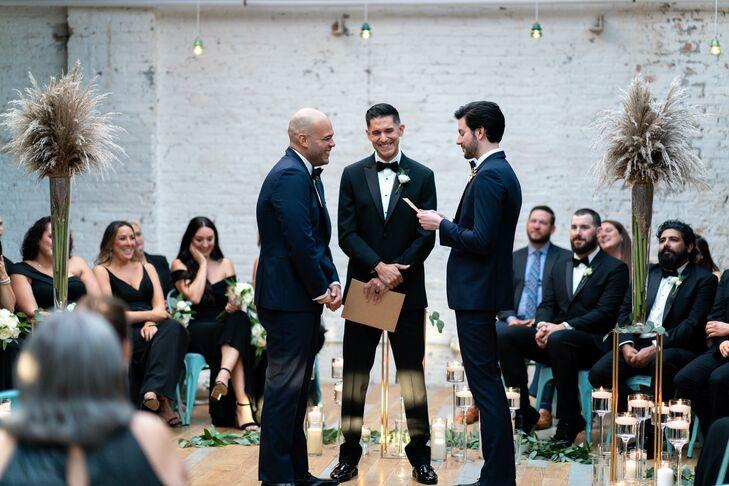 Same-Sex Wedding Ceremony in Industrial Venue