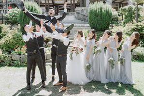 Whimsical Wedding Party Photo