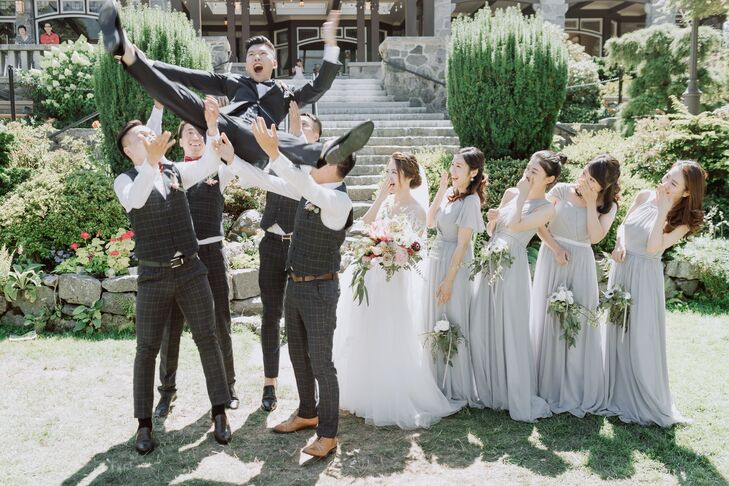 Whimsical Wedding Party Photo