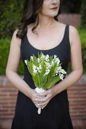 Tight, Minimal Bouquet of White Lily of the Valley