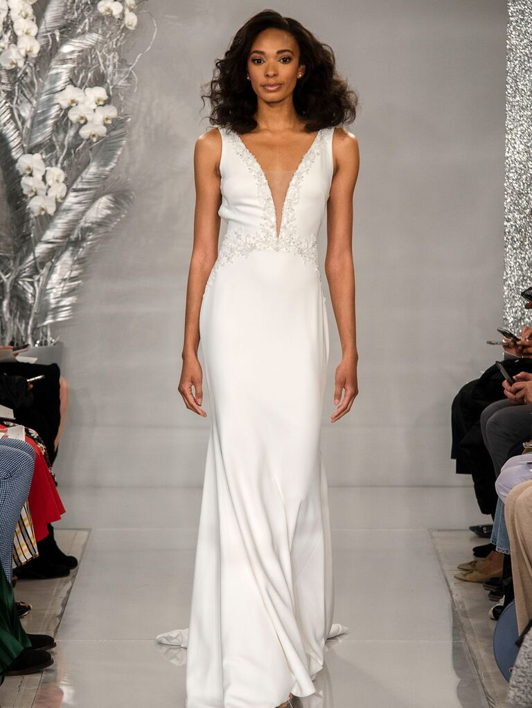 Theia Spring 2020 Bridal Collection V-neck wedding dress