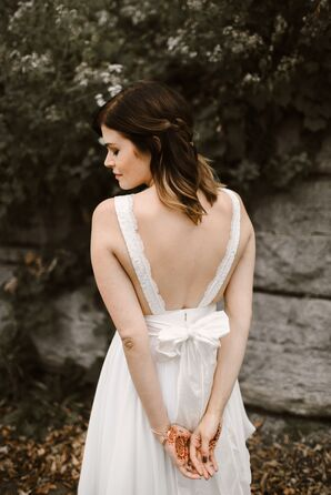 Backless Lace and Chiffon Truvelle Michelle Dress