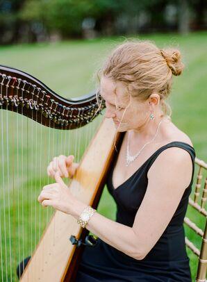 Ceremony Harpist Playing Music