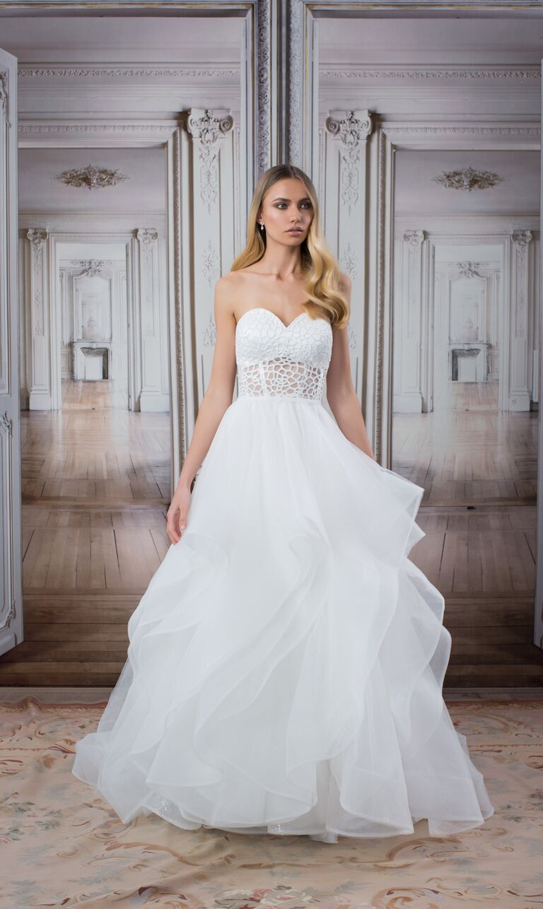7d7f0721434c Pnina Tornai wedding dress from the LOVE collection at Kleinfeld in New  York City