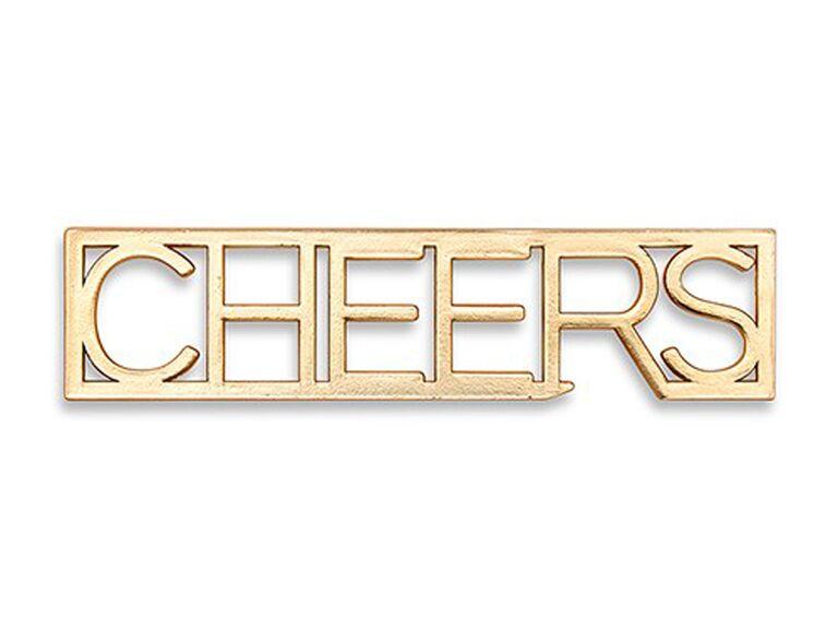 cheers gold bottle opener