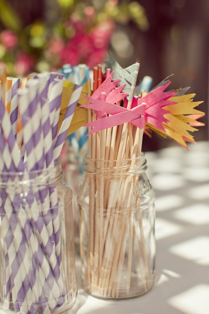 Striped Straws and Cocktail Stirrers