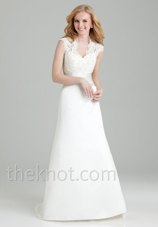 Allure romance 2558 wedding dress the knot for Wedding registry the knot