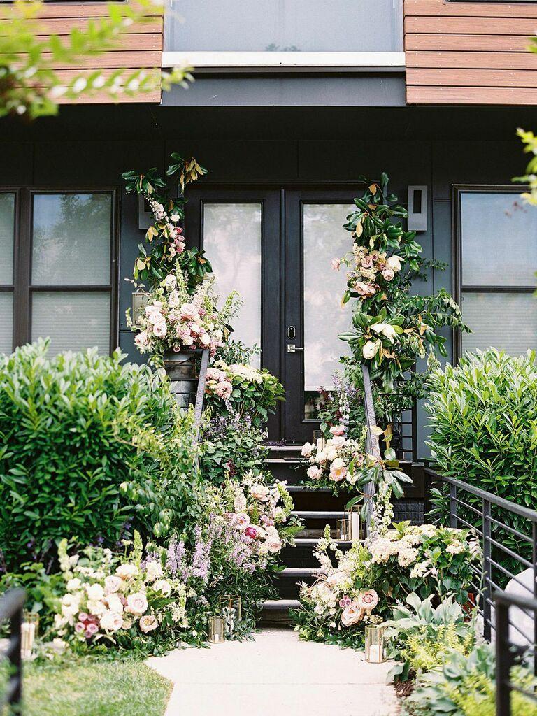 Whimsical Bridgerton-inspired outdoor venue for bridal shower