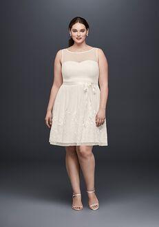 David's Bridal EJ8M7573W A-Line Wedding Dress