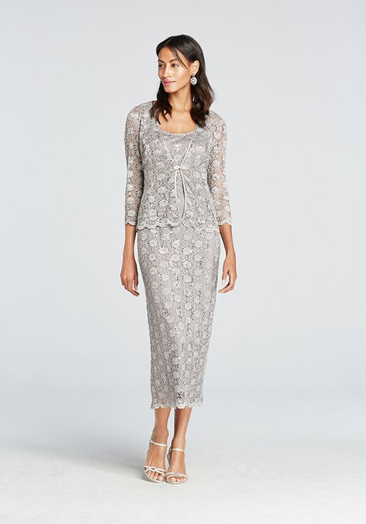 David's Bridal Mother of the Bride David's Bridal Style 7458 Silver Mother Of The Bride Dress