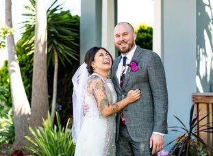 As foodies who love hosting parties, Kat Sebastian and Cody Shields wed at Comal in Berkeley, where the bride works from time to time. Their wedding h