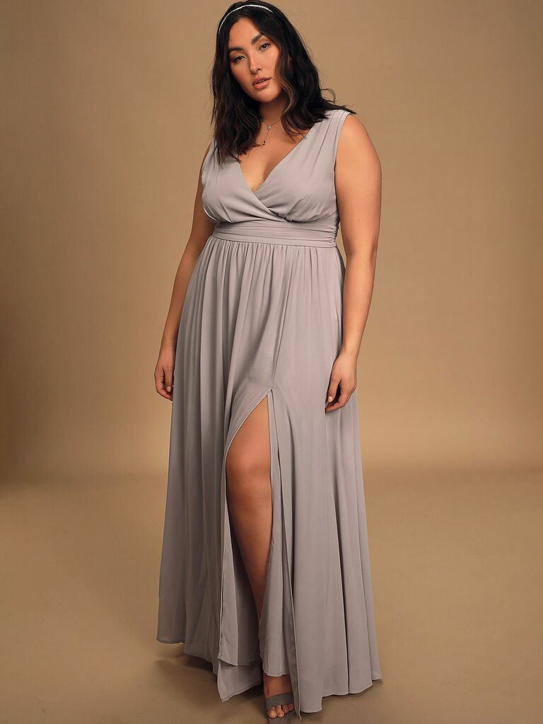 Lulus grey surplus dress