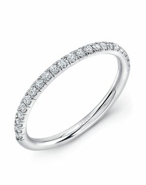 Uneek Fine Jewelry WB229 White Gold Wedding Ring