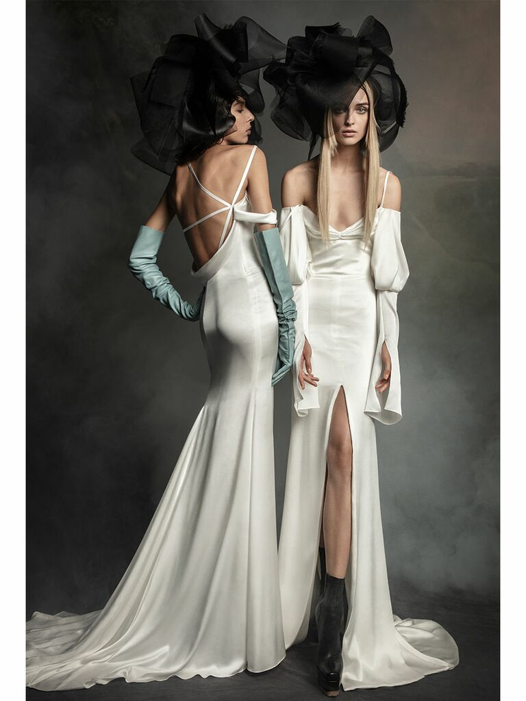 Vera Wang wedding dress white off-the-shoulder gowns