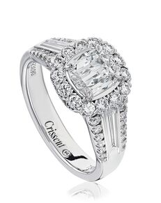 Christopher Designs Glamorous Cushion Cut Engagement Ring
