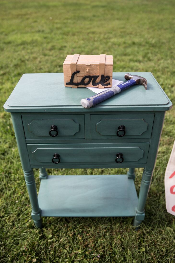 Vintage Blue Drawers Ceremony Accessory