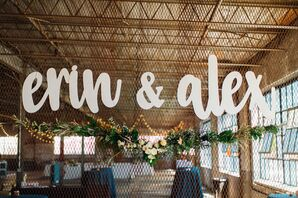 Custom Sign at Warehouse Reception