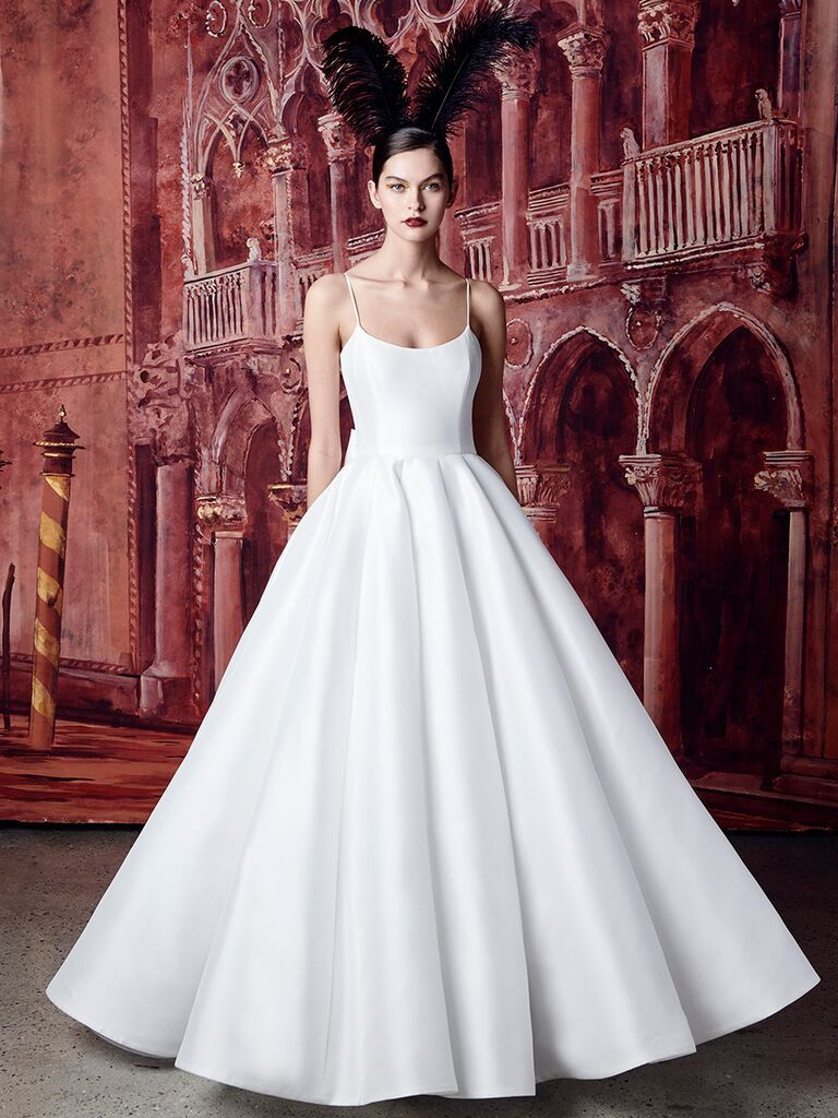 Isabelle Armstrong ballgown with spaghetti straps
