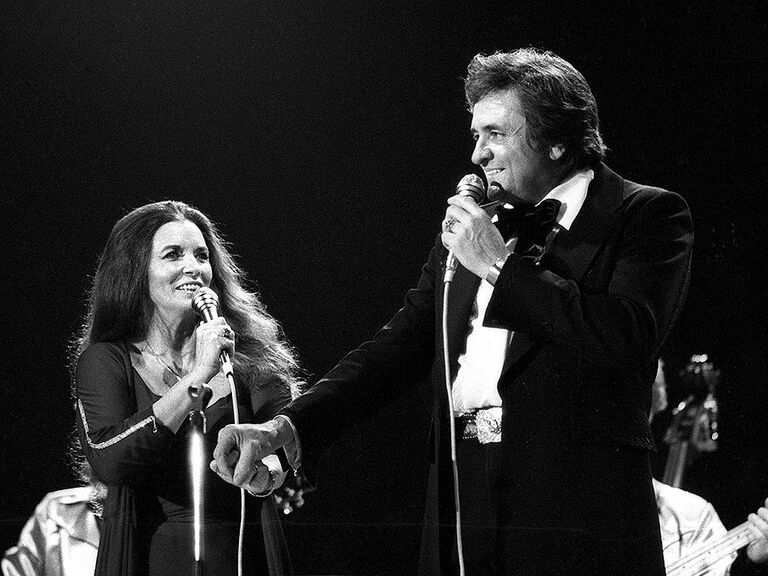 Johnny and June Carter Cash famous celebrity couples