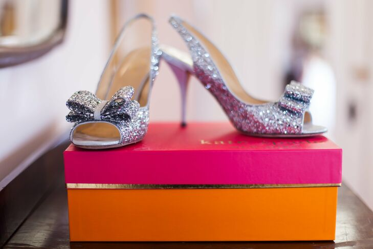 Silver Kate Spade Bridal Shoes
