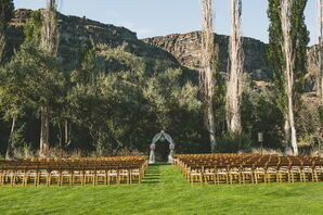 Ceremony With Mountain Backdrop